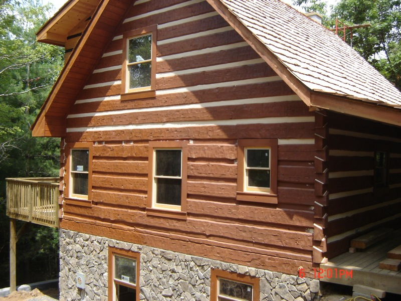 New home chinking wood house log homes llc for Chinking log cabin
