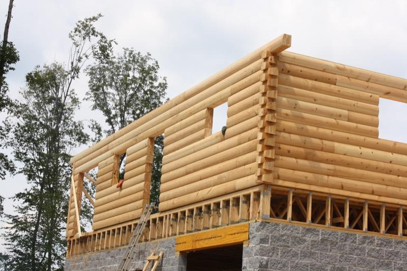 pioneer log homes wood house log homes llc. Black Bedroom Furniture Sets. Home Design Ideas