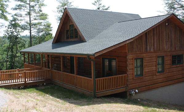 One story plans wood house log homes llc for Single story log cabin homes