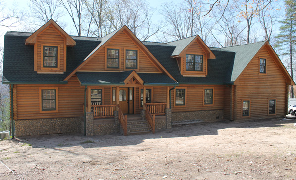 Restorations wood house log homes llc for 2 story log cabin kits